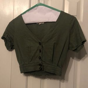 PacSun cropped green top